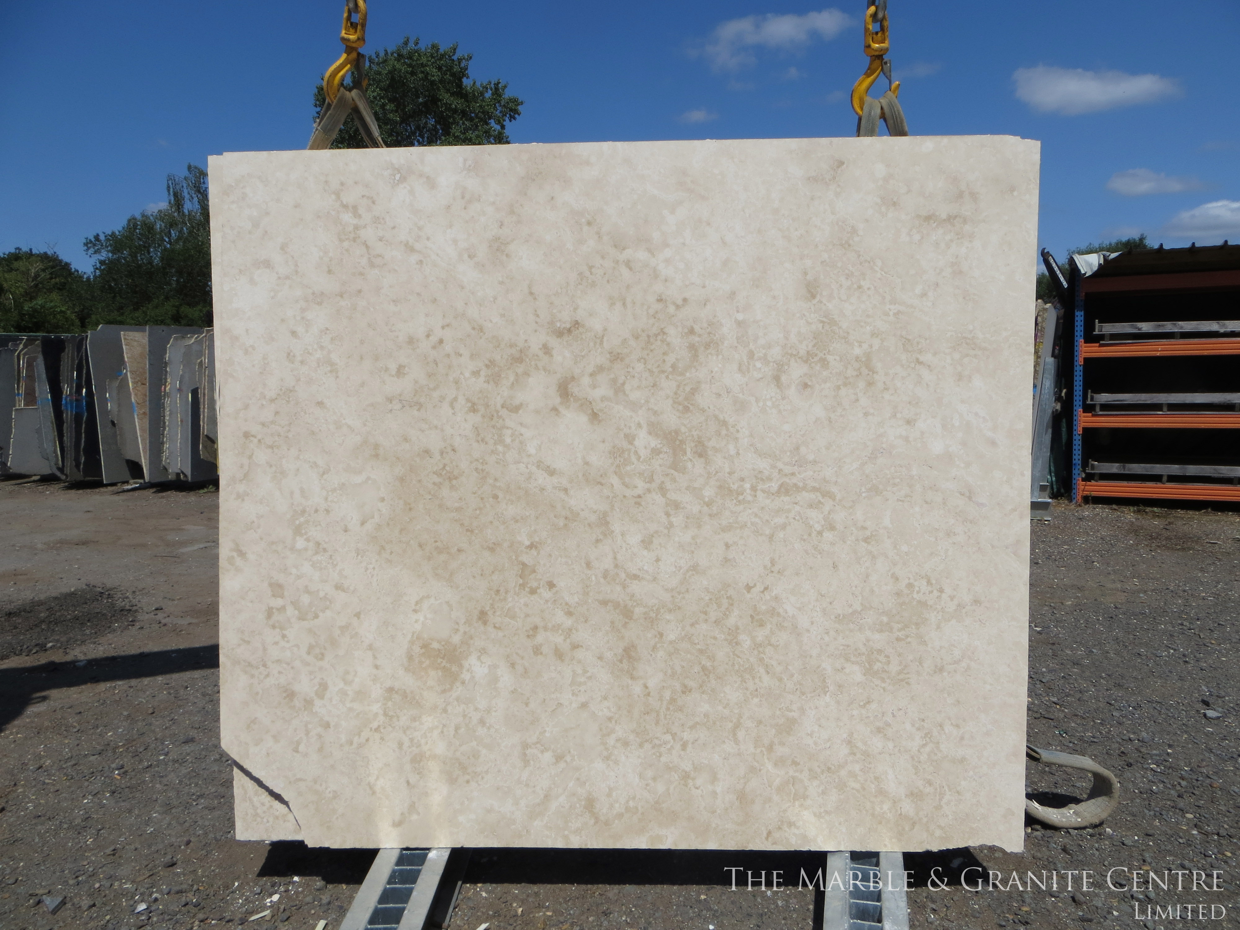 Marble Travertine Cross Cut Honed 20 mm [1554]