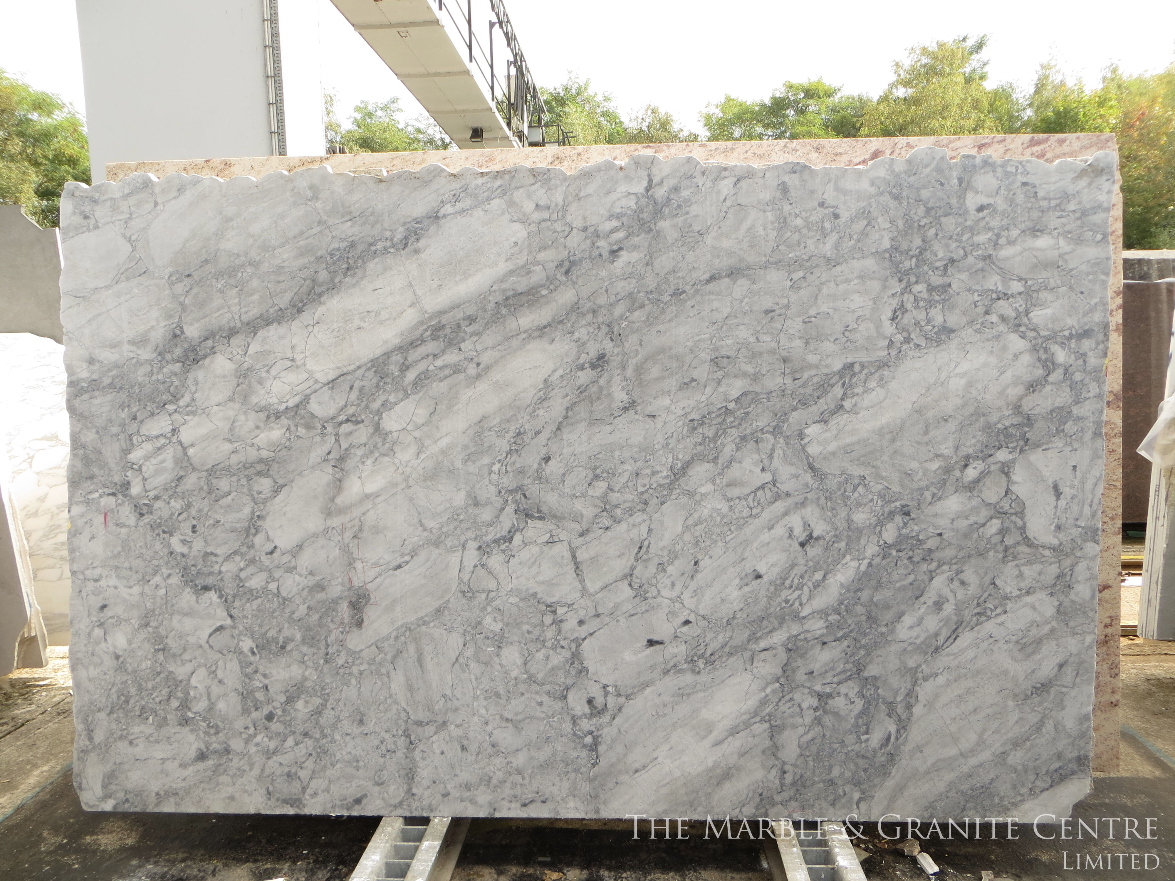 Quartzite Bianca Eclipsia Polished 30 mm [21494]