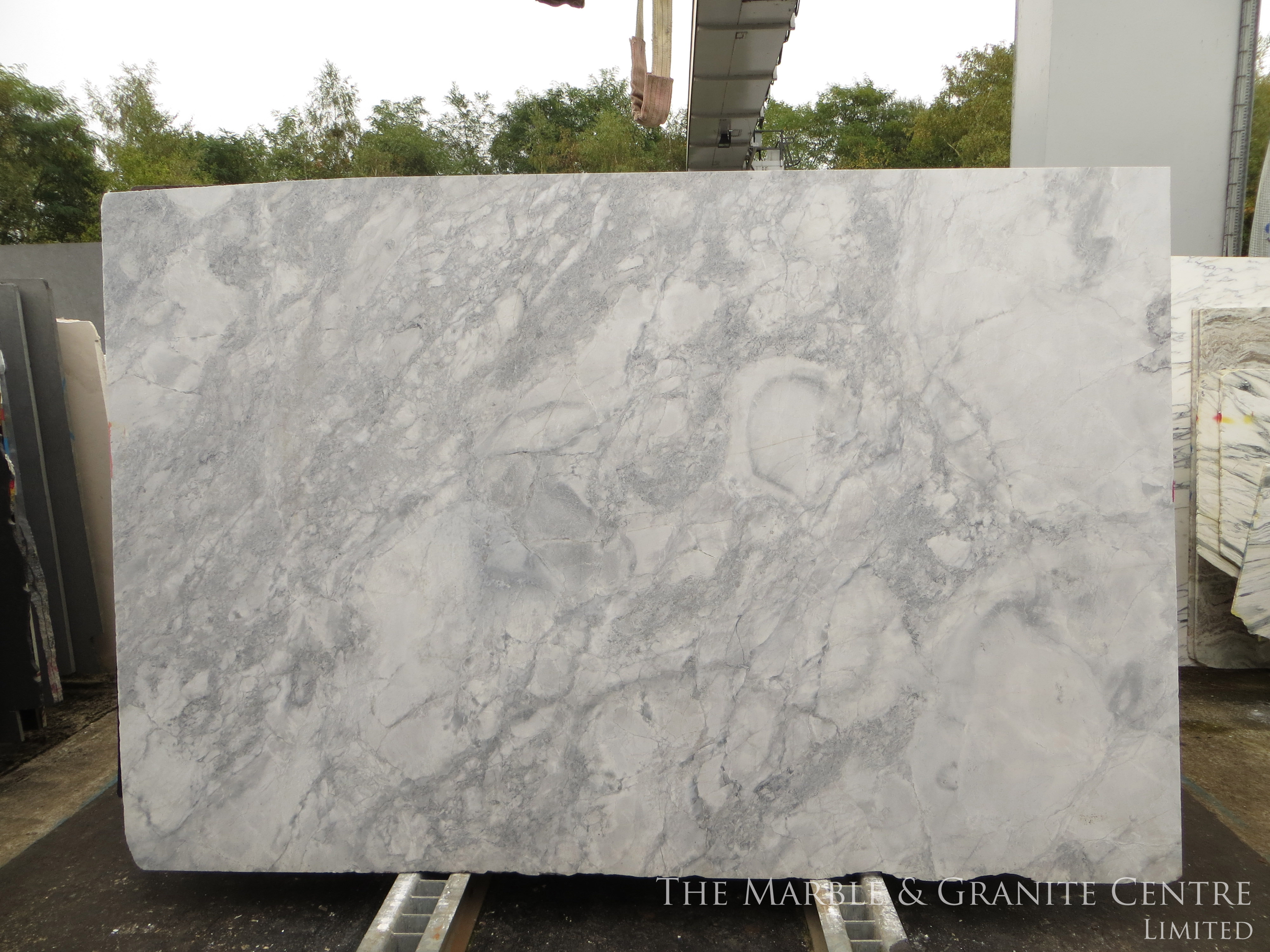 Quartzite Bianca Eclipsia Polished 30 mm [21655]
